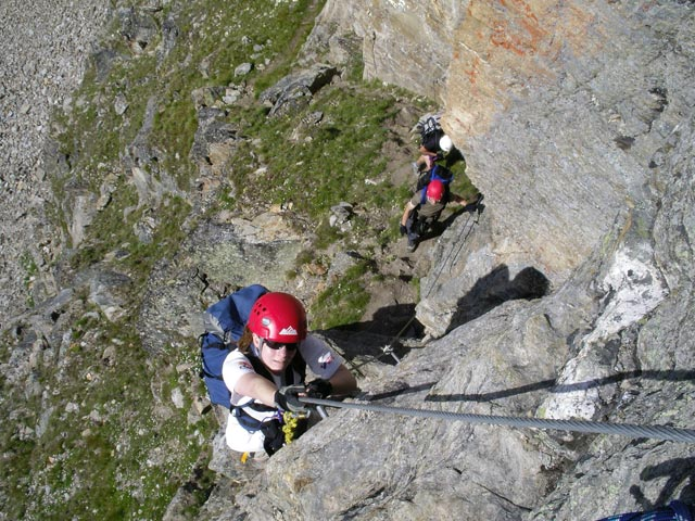 Klettersteigset Rot : Neuer klettersteig südwand bergsteigen.com