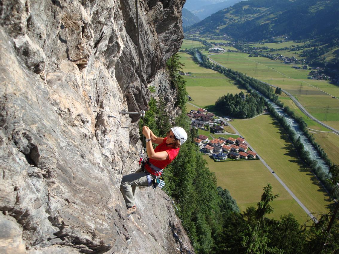 Klettersteig Mayrhofen : Zimmereben klettersteig bergsteigen