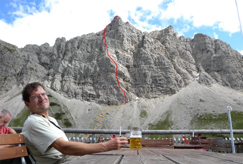 Klettersteig Lachenspitze Bilder : Klettersteig lachenspitze nordwand bergsteigen