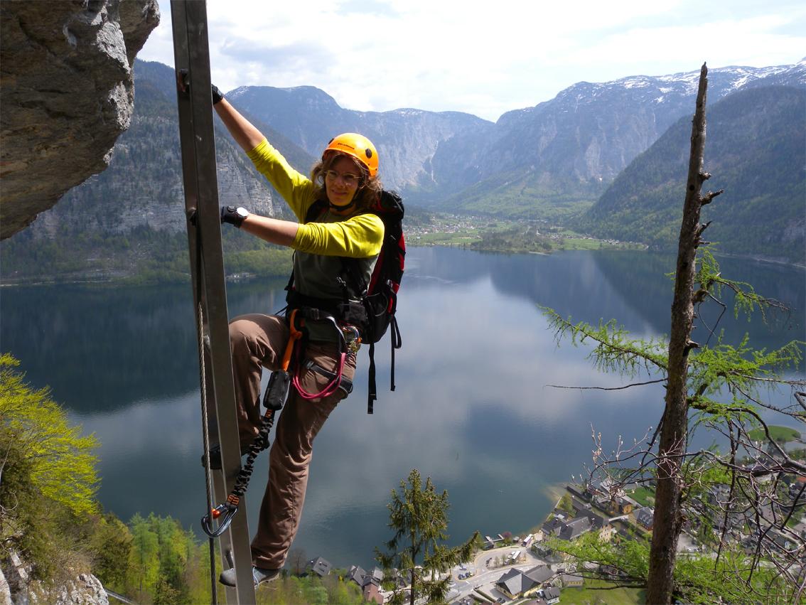 Klettersteig Hallstatt : Echernwand klettersteig bergsteigen