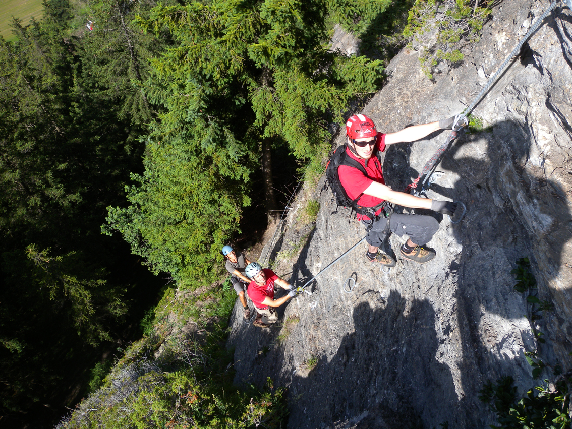 St Jodok Klettersteig : Peter kofler klettersteig stafflacher wand bergsteigen