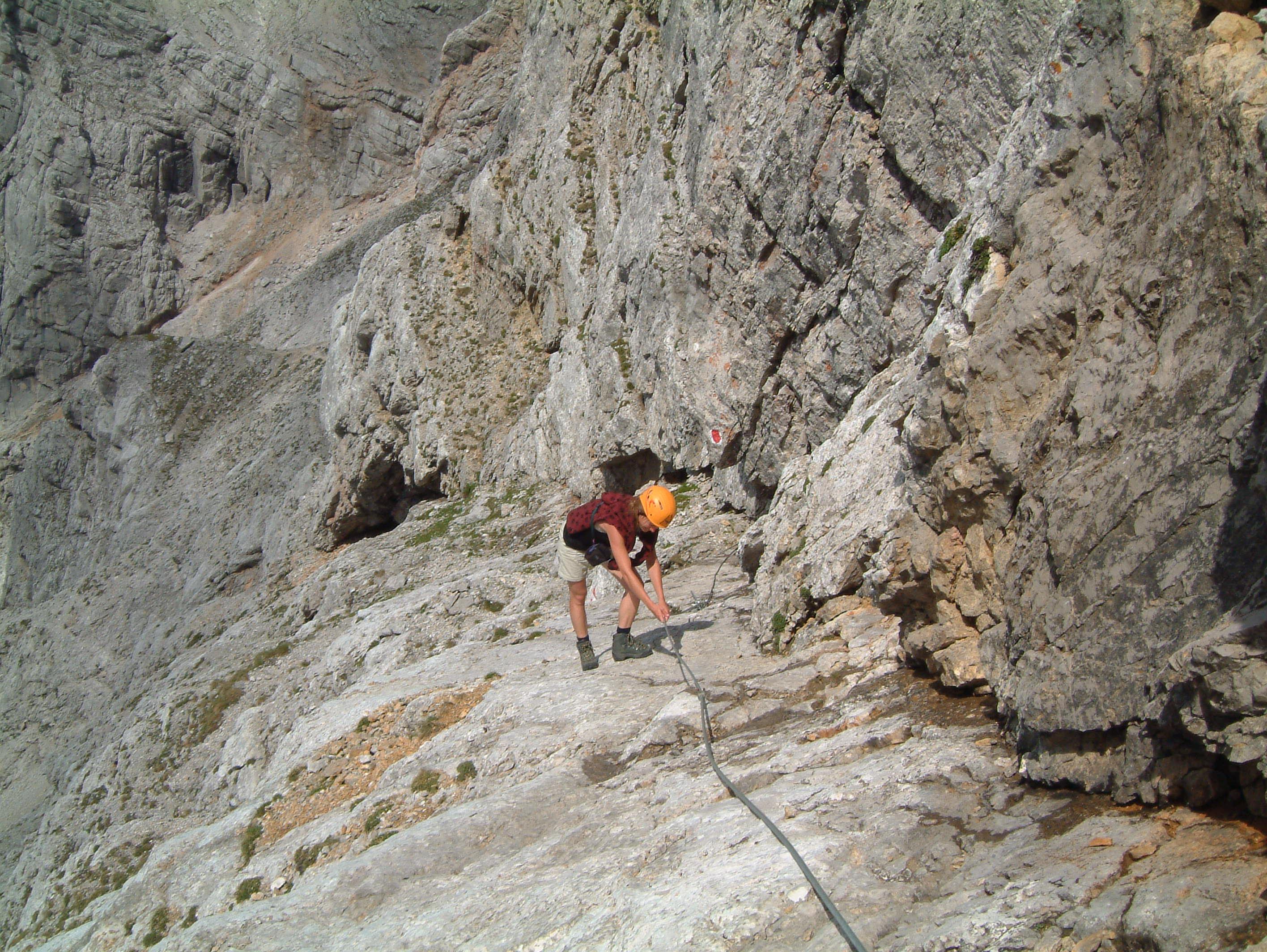 Klettersteig Buchstein : Südwandband klettersteig buchstein bergsteigen