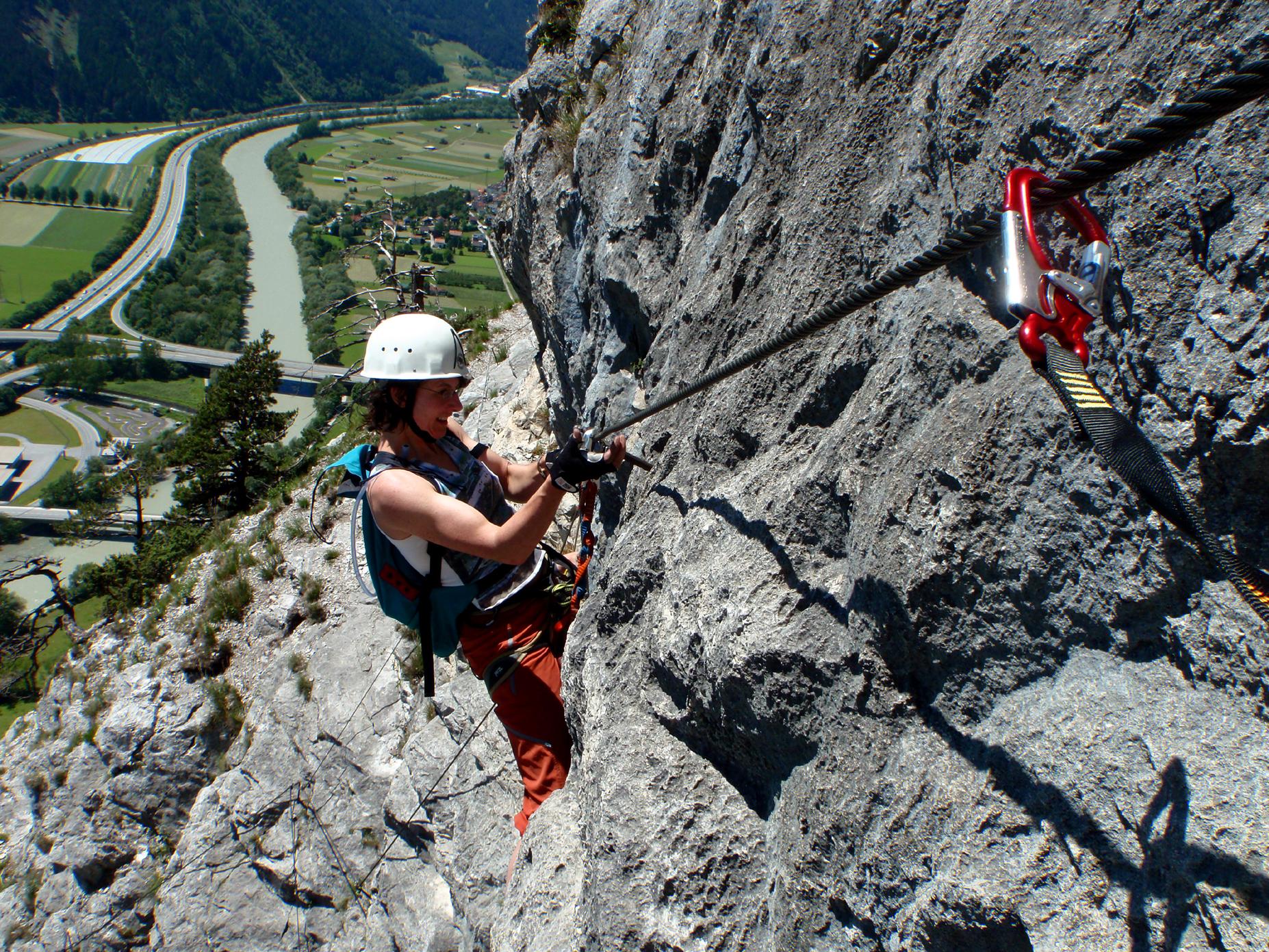 Klettersteigset Innsbruck : Innsbrucker klettersteig mit bergführer alpinschule garmisch