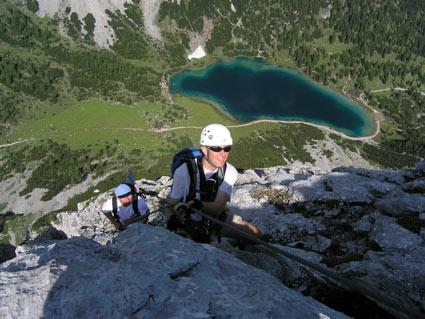 Klettersteig Ehrwald : Tajakante klettersteig bergsteigen