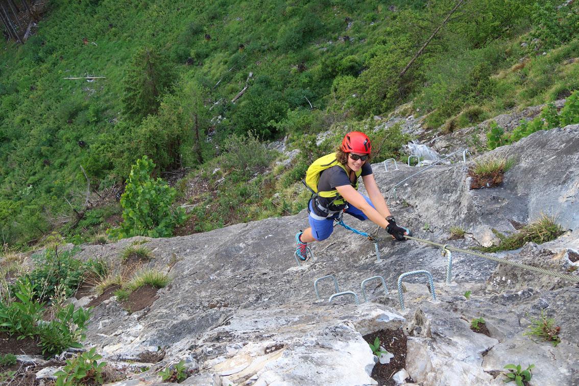 Klettersteig Zimmereben : Astegg klettersteig bergsteigen
