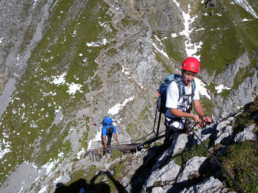 Klettersteig Mittenwald : Mittenwalder höhenweg bergsteigen