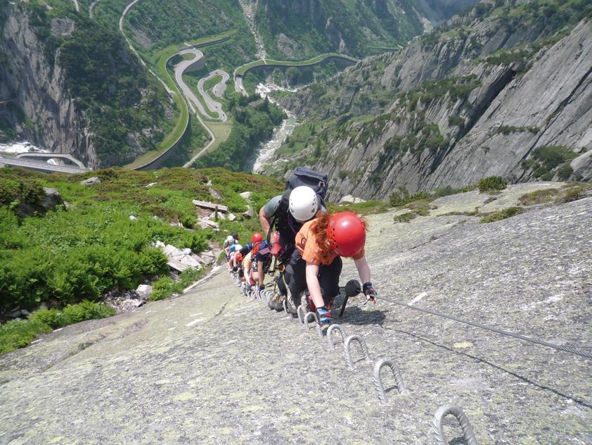 Klettersteig Diavolo : Via ferrata diavolo bergsteigen