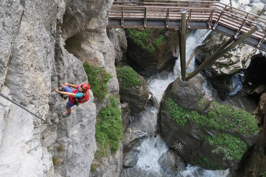 Klettersteig Fall : Freifall klettersteig bergsteigen.com