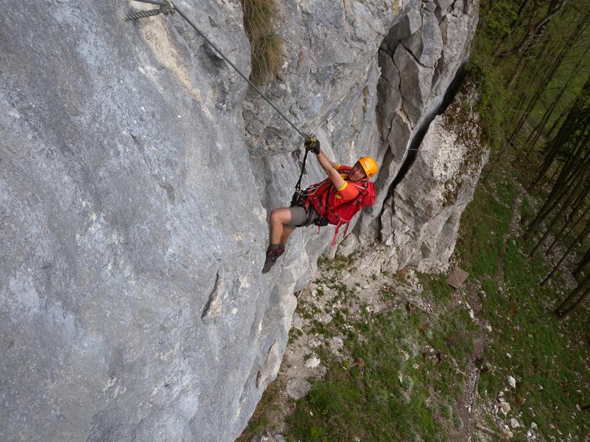 Xeis Klettersteig : Großalber klettersteig beisteinmauer bergsteigen