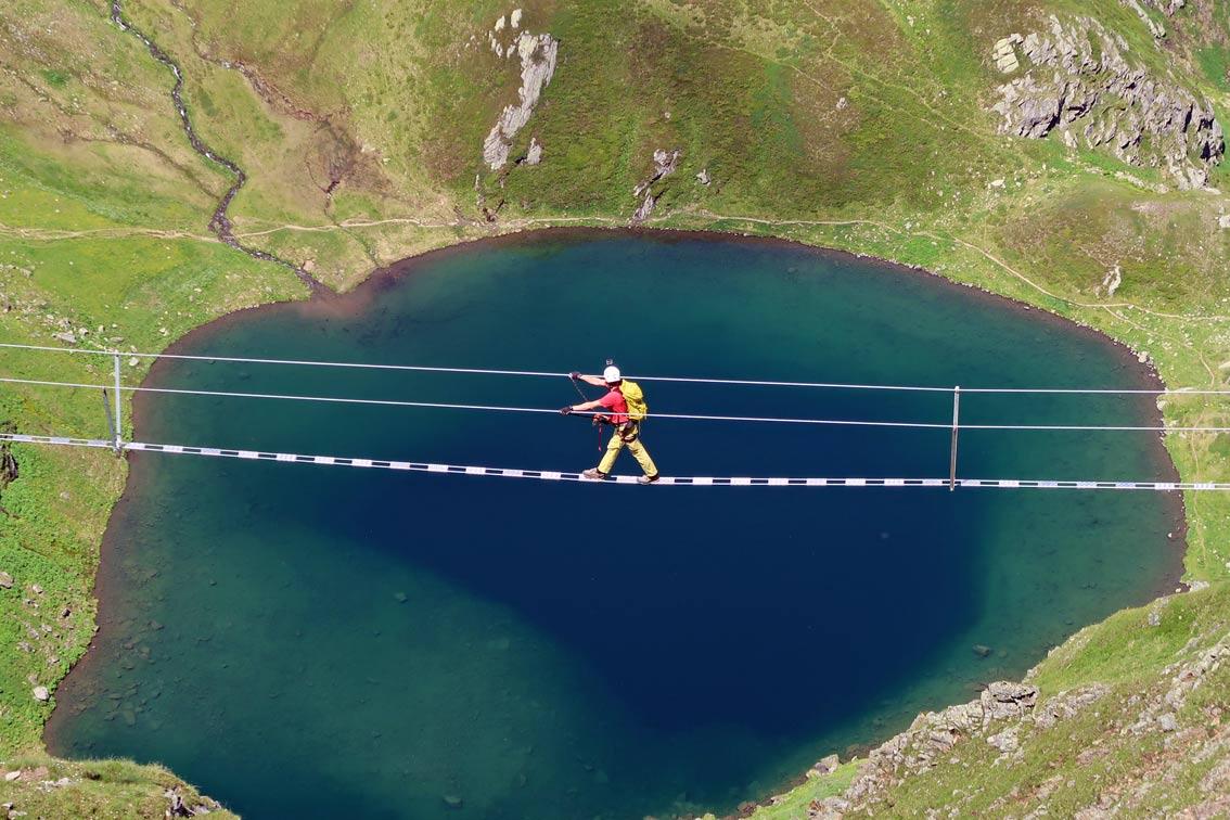 Klettersteig Hochjoch : Hochjoch klettersteig schruns bergsteigen
