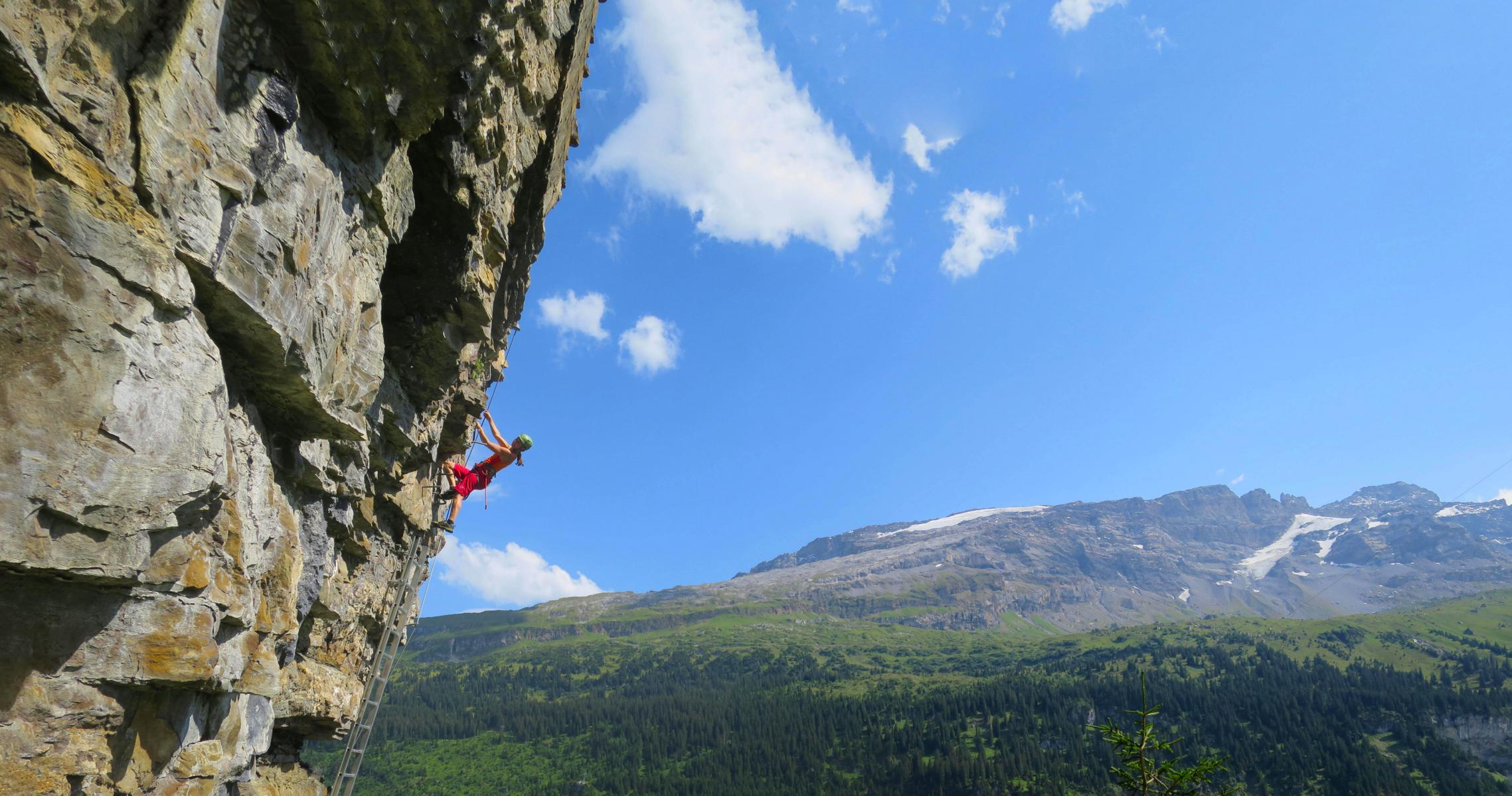 Klettersteig Urnerboden : Klettersteig zingelstöckli bergsteigen