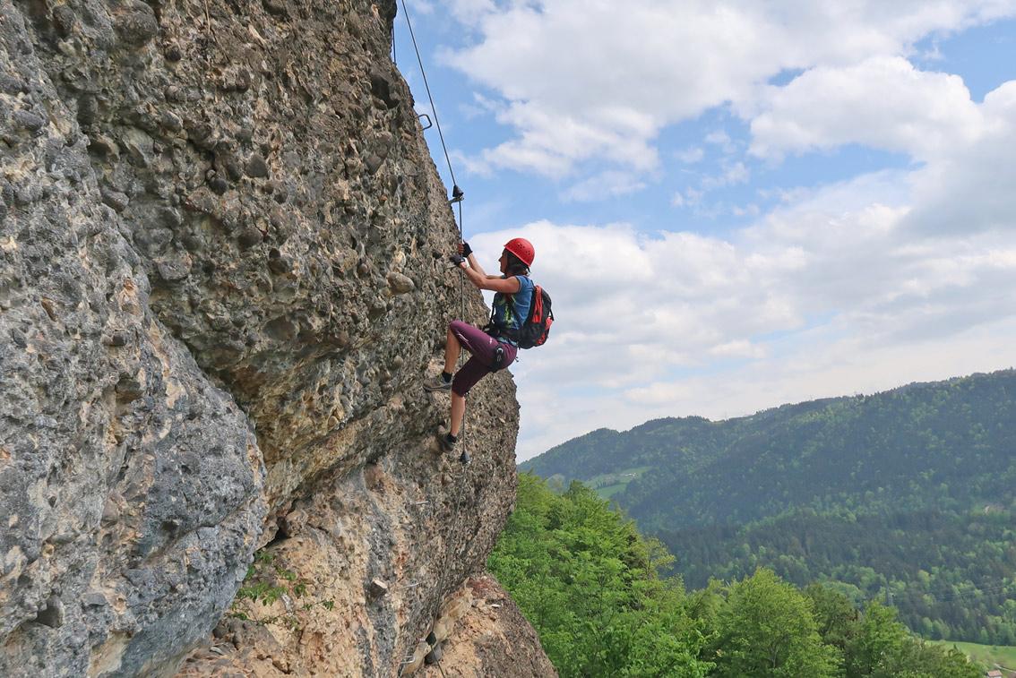 Klettersteig Immenstadt : Känzele klettersteig bergsteigen