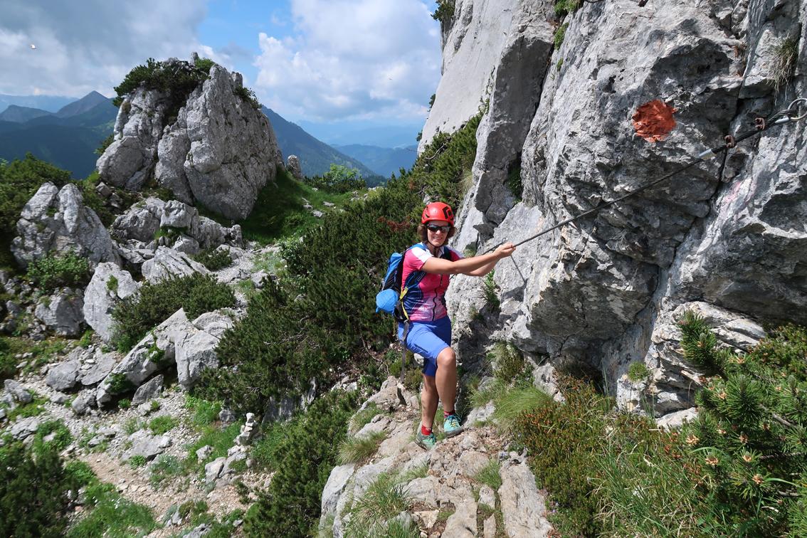 Klettersteigset Notwendig : Kampenwand steig klettersteig bergsteigen.com