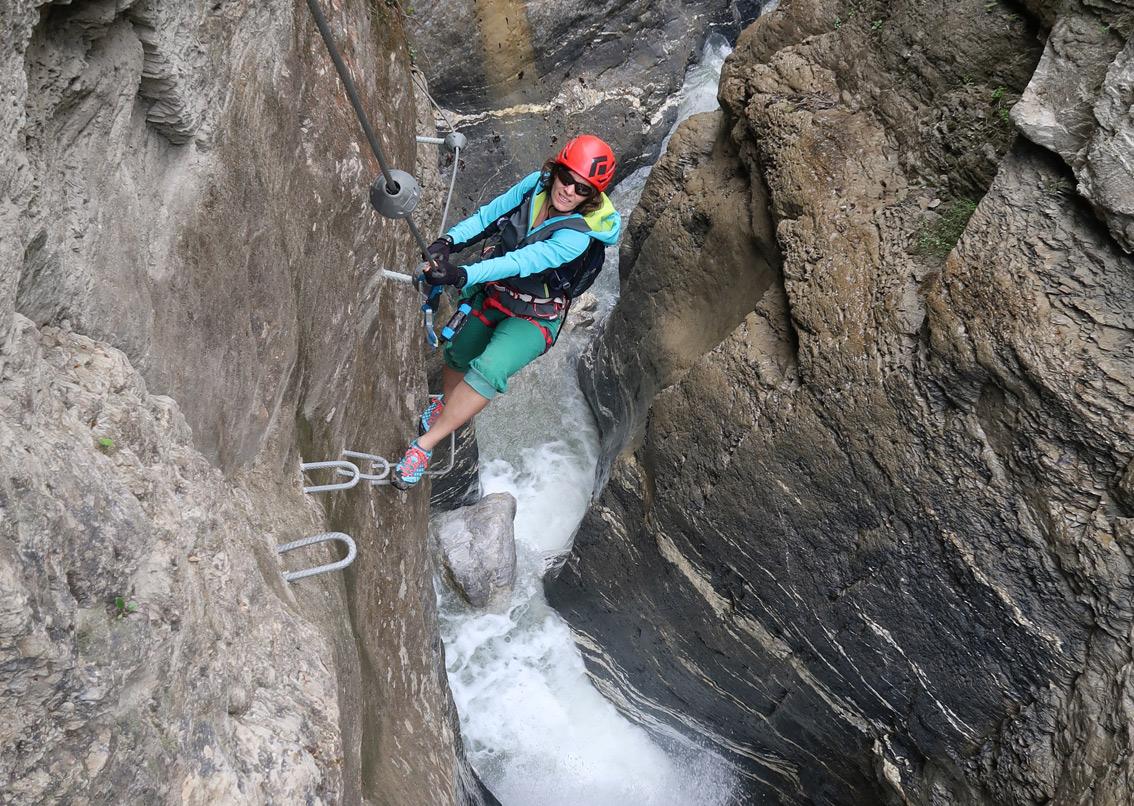 Klettersteig Equipment : Kesselfall klettersteig kleinarl bergsteigen