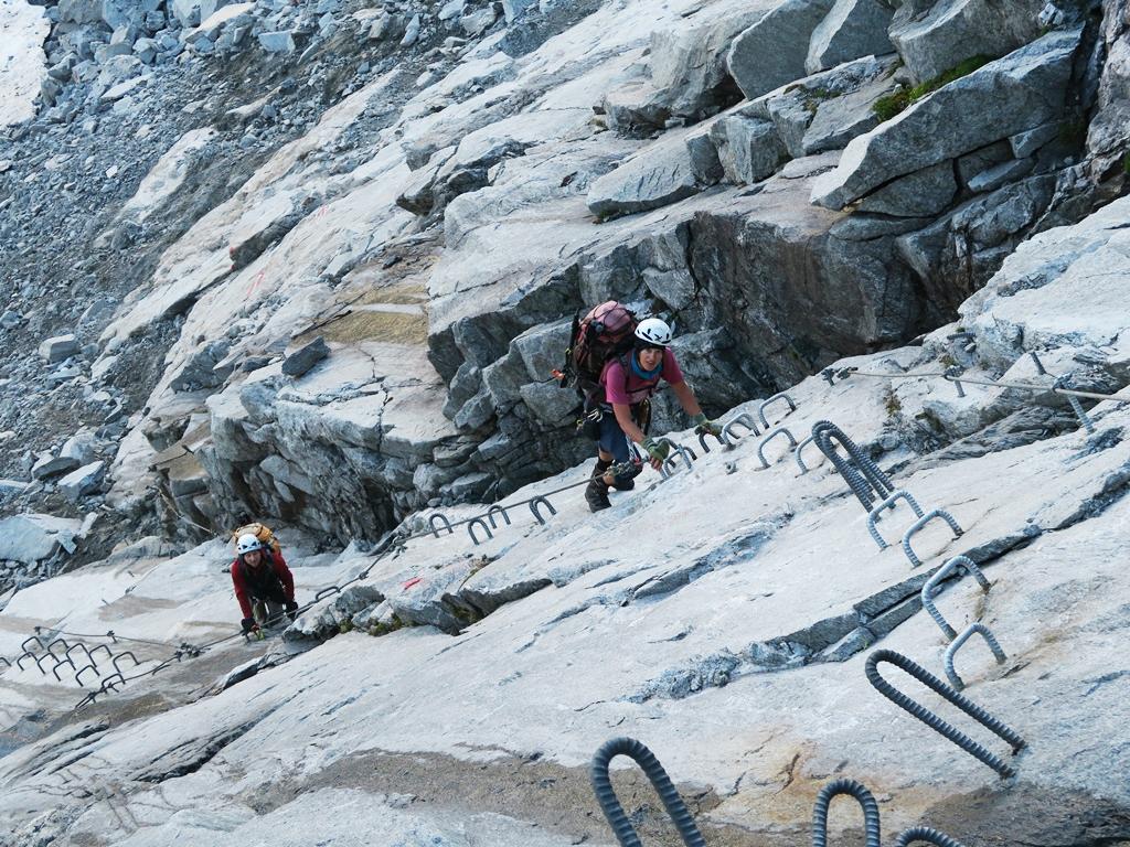 Xeis Klettersteig : Klettersteig gamsscharte richterspitze bergsteigen