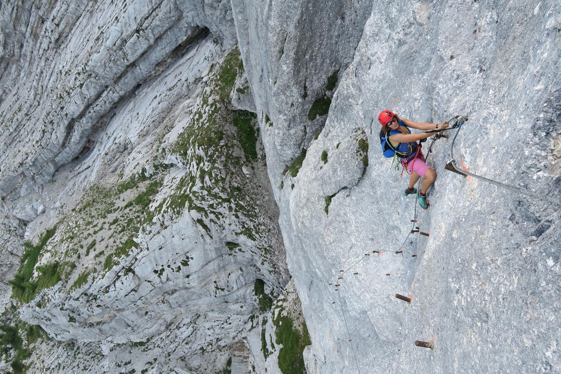 Klettersteig Seewand : Klettersteig nordwand krippenstein bergsteigen
