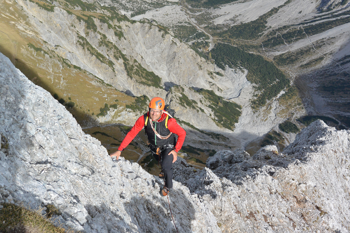Klettersteig Lamsenspitze : Lamsenspitze nordostkante nordostgrat bergsteigen