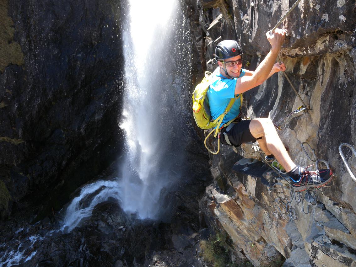 Klettersteig Oetztal : Klettersteig stuibenfall Ötztal