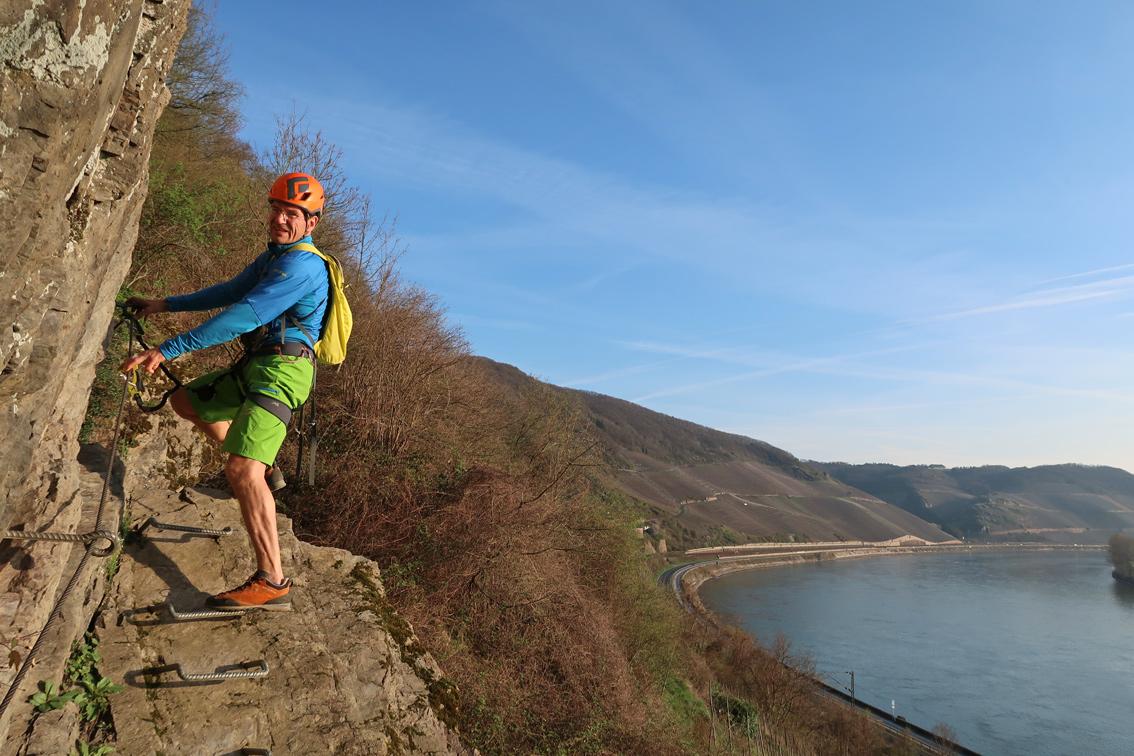 Klettersteig Nochern : Mittelrhein klettersteig boppard bergsteigen