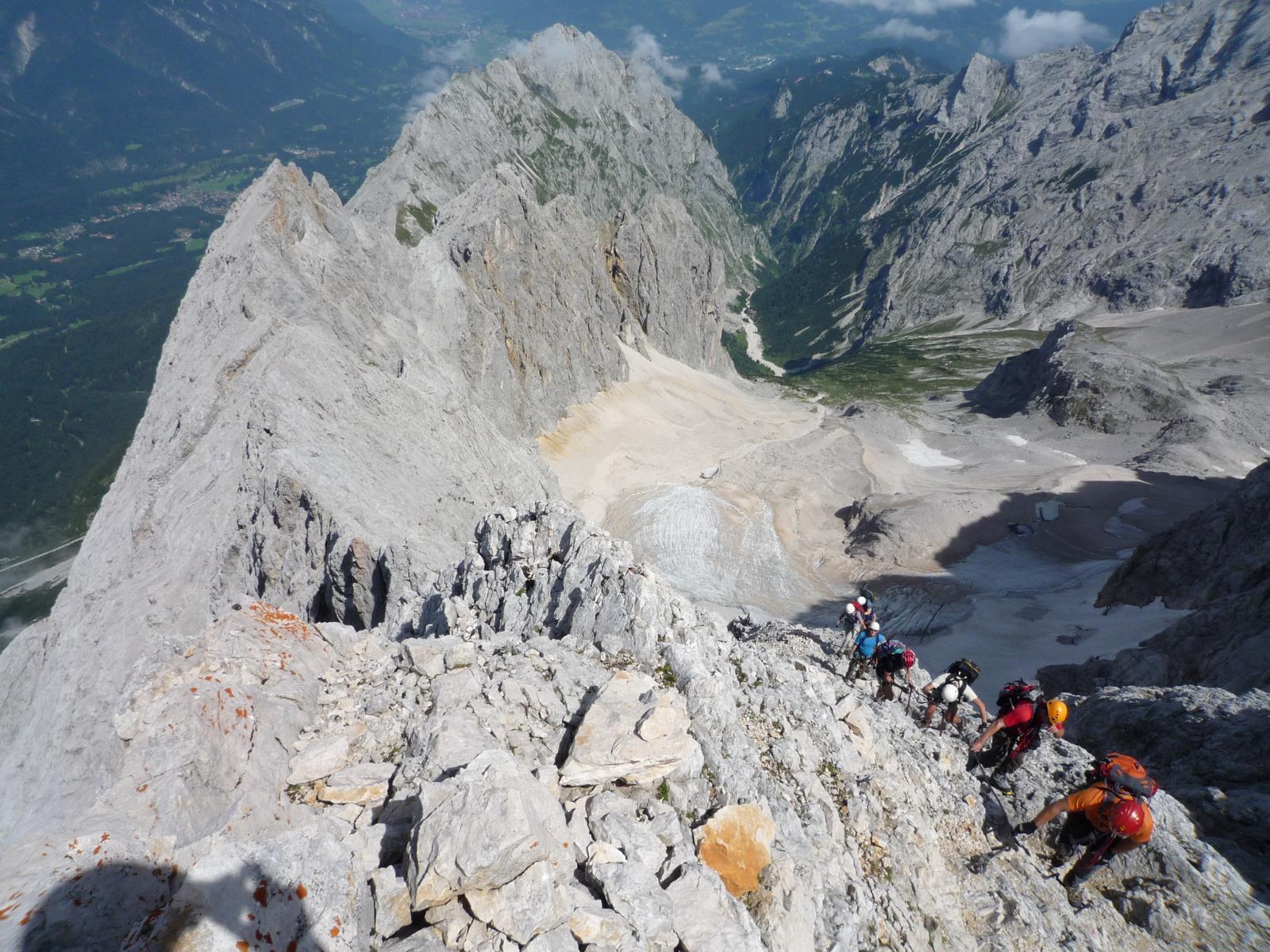 Klettersteig Garmisch : Höllental klettersteig zugspitze bergsteigen