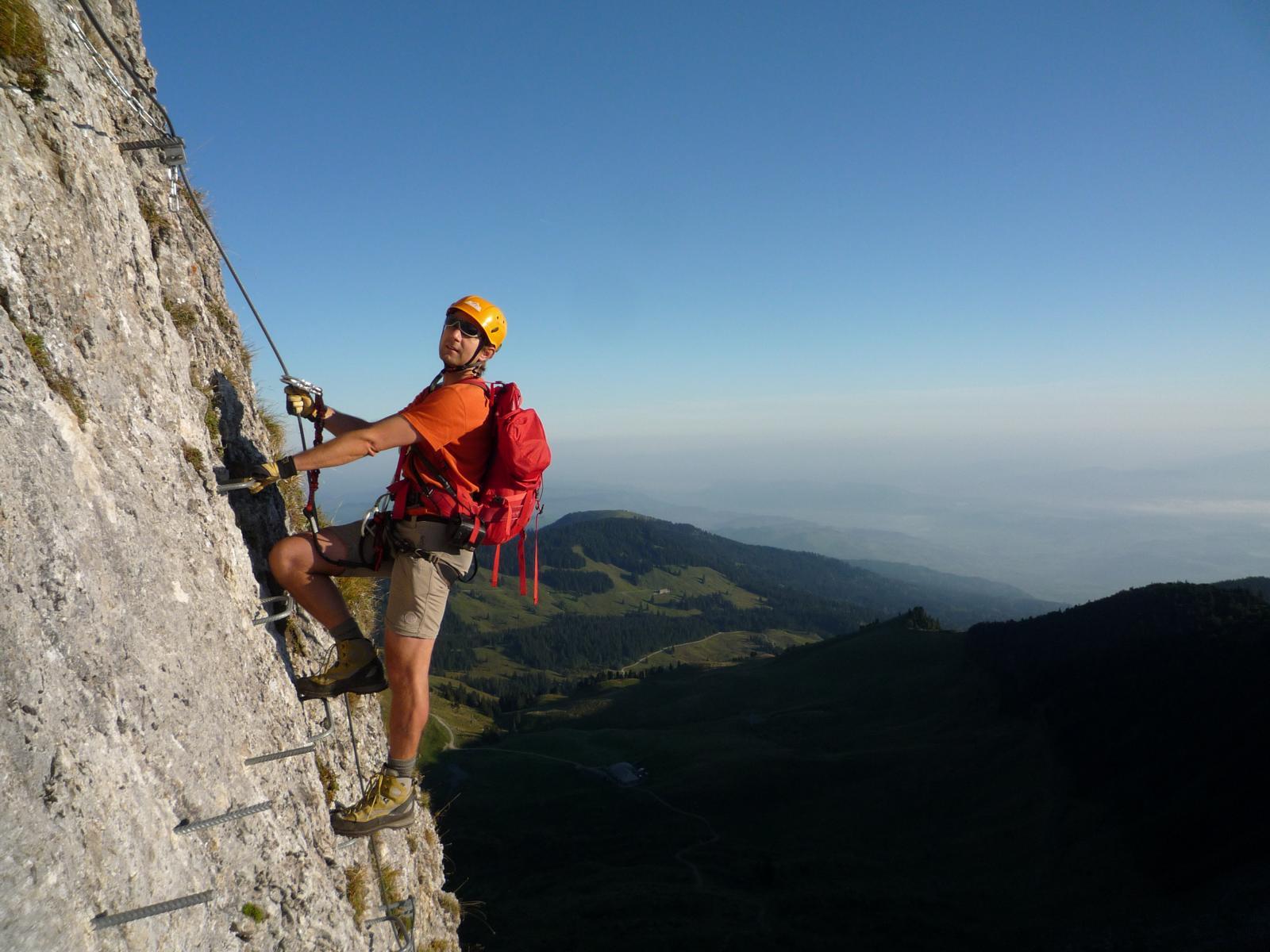 Klettersteig Bern : Gantrisch klettersteig bergsteigen