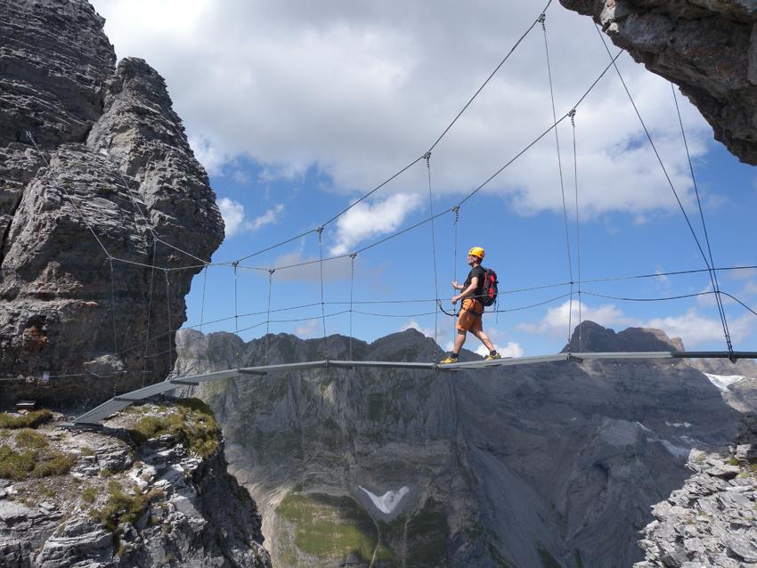 Klettersteig Braunwald : Braunwald klettersteig bergsteigen.com
