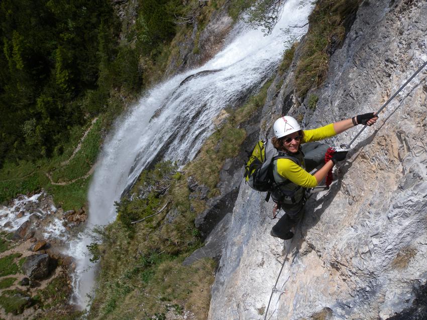 Klettersteig Achensee : Dalfazer wasserfall klettersteig buchau bergsteigen