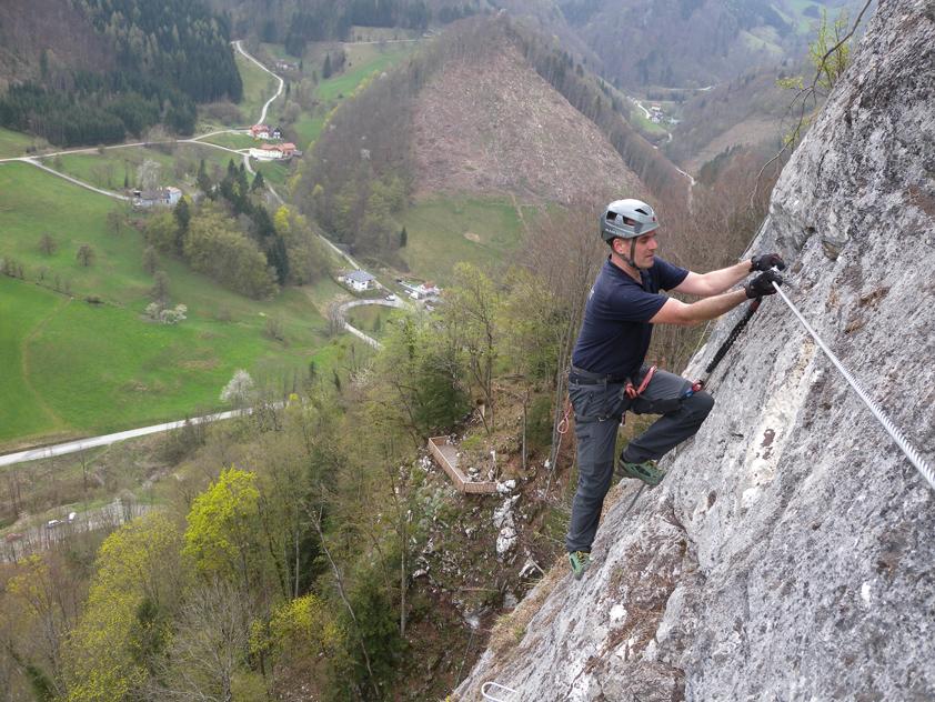Klettersteig Oberösterreich : Trattenbacher klettersteig beisteinmauer bergsteigen.com