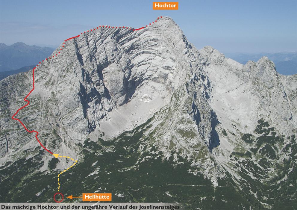 Klettersteig Johnsbach : Josefinensteig bergsteigen.com