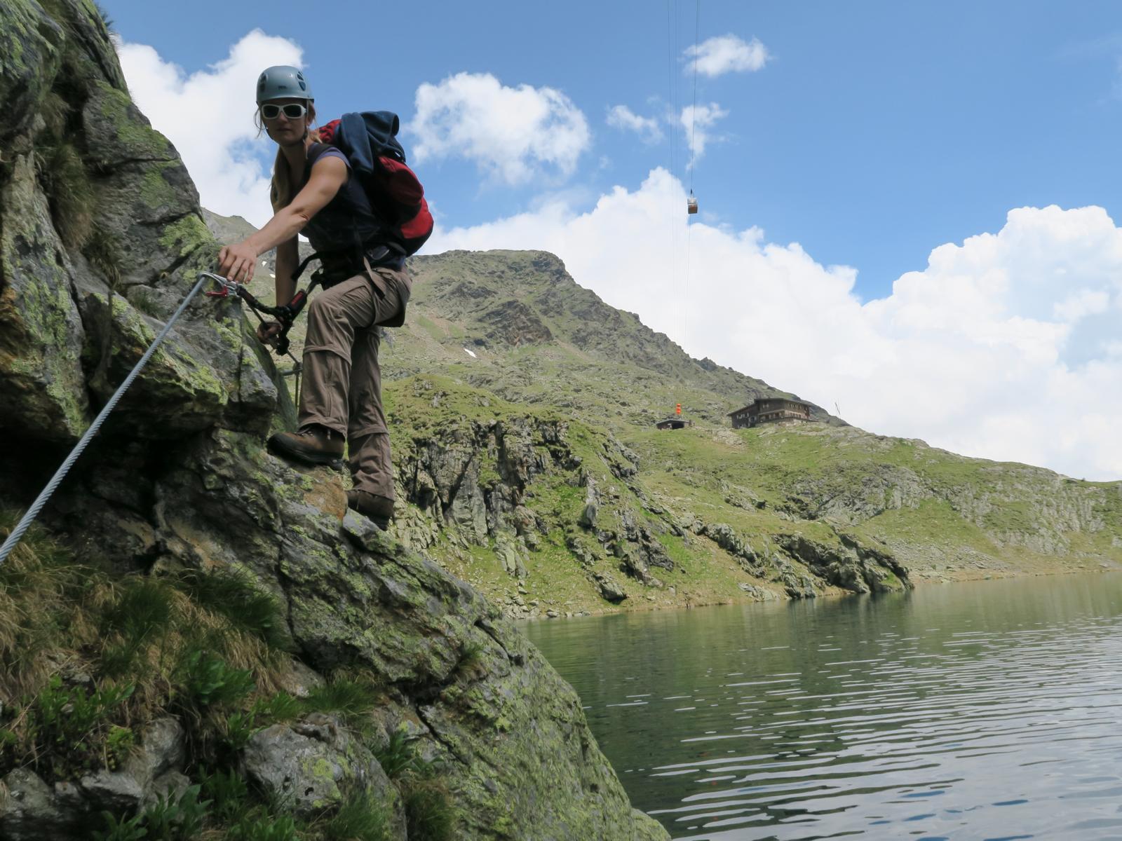 Klettersteig Lienz : Wangenitzsee klettersteig bergsteigen