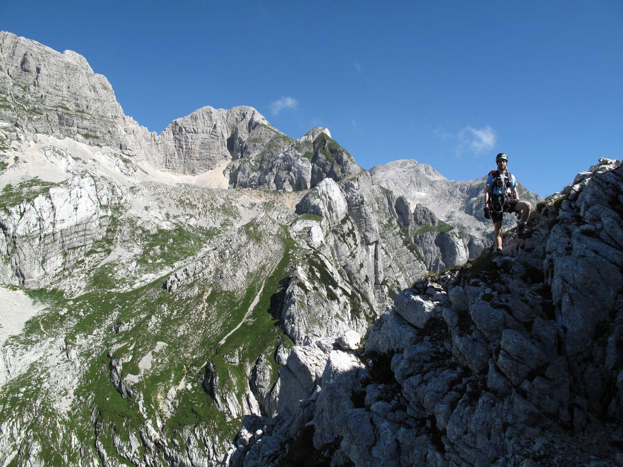 Klettersteig Julische Alpen : Berge julische alpen prisojnik bild