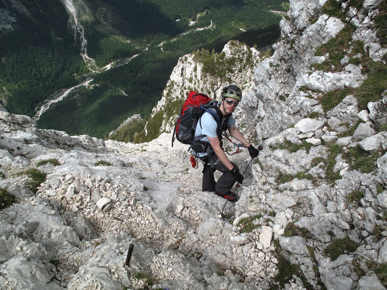 Klettersteig Julische Alpen : Langer deutscher weg triglav julische alpen klettern gbl