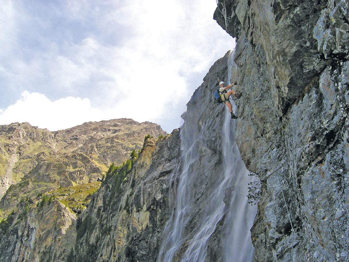 Klettersteig Quarzit Wand : Anton renk klettersteig bergsteigen